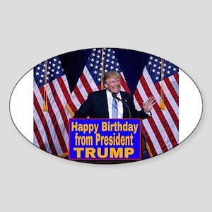 Happy Birthday from President Trump Sticker