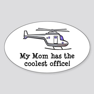 Mom's Helicopter Oval Sticker