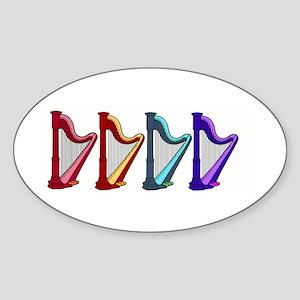 rainbow harps Sticker