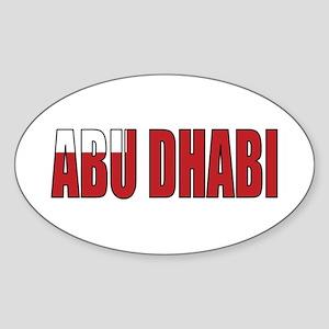 Abu Dhabi Oval Sticker