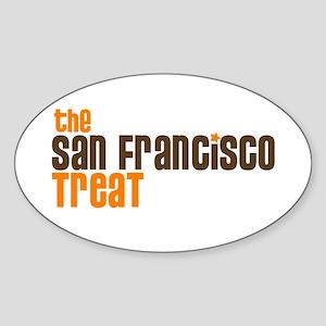 SF TREAT Oval Sticker