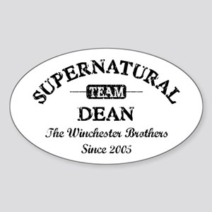 SUPERNATURAL Team DEAN black Sticker (Oval)