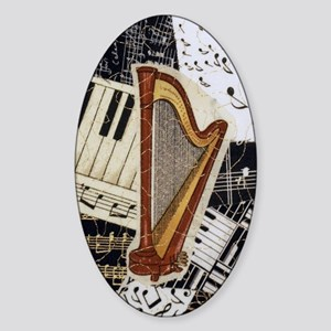 harp-5432 Sticker (Oval)