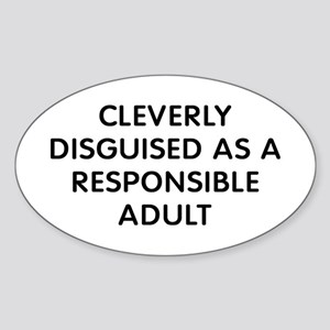 Cleverly Adult Sticker (Oval)