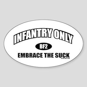 Infantry Only BF2 Oval Sticker
