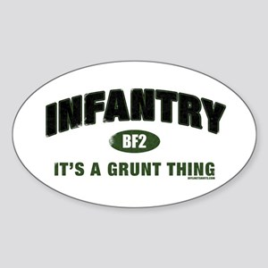 Infantry: Grunt Thing Oval Sticker