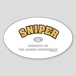 Sniper Dept Oval Sticker