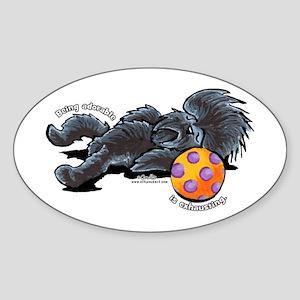 Adorable Affenpinscher Sticker (Oval)