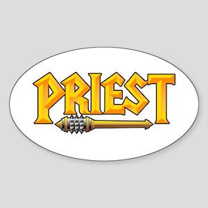 Priest @ eShirtLabs.Com Oval Sticker