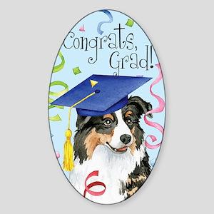 aussie graduate Sticker (Oval)