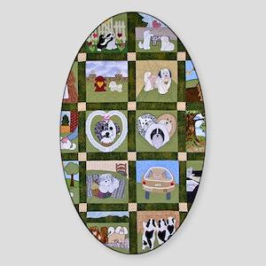 2012 Hav A Heart Quilt Sticker (Oval)