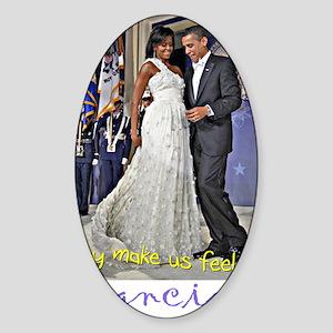 Dancing Obamas Sticker (Oval)