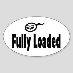 Fully Loaded Oval Sticker