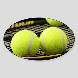 Tennis Balls And Racquet Sticker