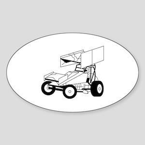 Sprint Car Outline Sticker