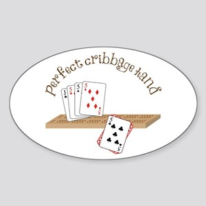 Perfect Cribbage Hand Sticker