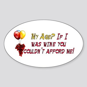 Fine Wine Oval Sticker