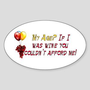 Fine Wine Oval Sticker