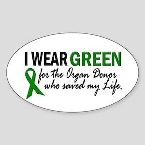 I Wear Green 2 (Saved My Life) Oval Sticker