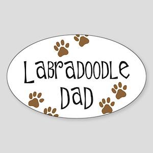 Labradoodle Dad Oval Sticker