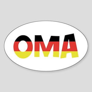Oma Oval Sticker
