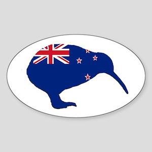 New Zealand Kiwi Oval Sticker