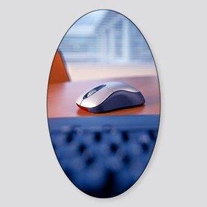 Optical computer mouse Sticker (Oval)