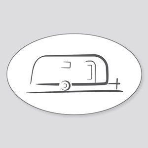 Airstream Silhouette Sticker (Oval)