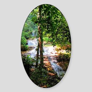 Erawan Falls - Erawan National Park Sticker (Oval)