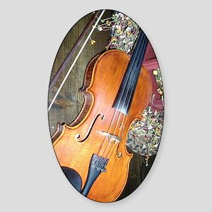 fiddle Sticker (Oval)