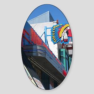 Albuquerque Street Scene Sticker (Oval)