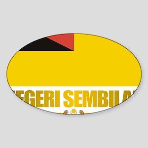 Negeri Sembilan (Flag 10)2 Sticker (Oval)