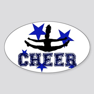 Blue Cheerleader Sticker