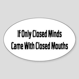 Closed Oval Sticker