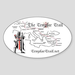 TempleTrail.net Sticker (Oval)