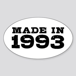 Made In 1993 Sticker (Oval)