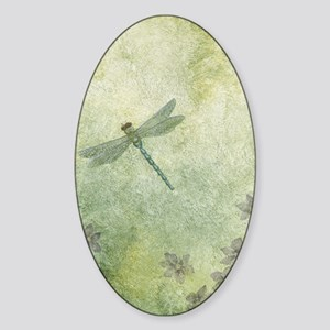 StephanieAM Dragonfly Sticker (Oval)