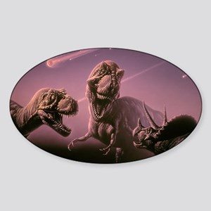 Death of dinosaurs Sticker (Oval)