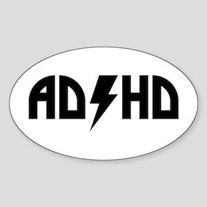 ADHD Rock Sticker (Oval)