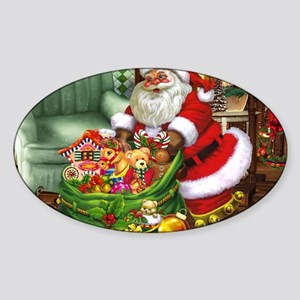 Santa Claus! Sticker (Oval)