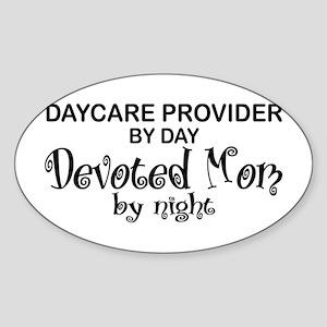 Devoted Mom Daycare Provider Oval Sticker