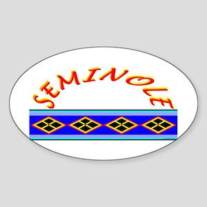SEMINOLE INDIAN PATCHWORK Sticker (Oval)