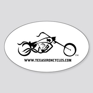 Iron Cycles Oval Sticker