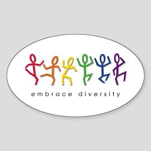 gay pride dance Sticker (Oval)