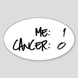 Cancer Survivor Humor Sticker (Oval)