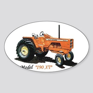 Antique Tractors Oval Sticker