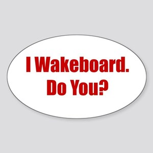 I Wakeboard Oval Sticker