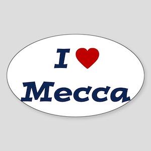 I HEART MECCA Oval Sticker
