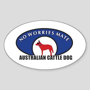 Red Dog Wear Sticker (Oval)