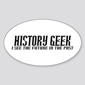 History Geek Future in Past Sticker